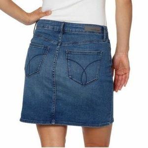 Calvin Klein Skirts - Calvin Klein Ladies' Denim Skirt Moonlight Dusk